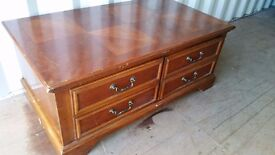 LARGE WOODEN STORAGE BOX WITH DRAWERS FOR SALE.