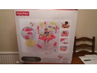 New Fisher-Price Petals Jumperoo Baby Bouncer With Music, Lights & Sounds.