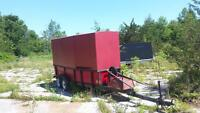 Cargo and utility trailer tandem axle and will tilt