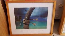 """Beech-framed Print of Chris Simpson – """"Island Breeze"""""""