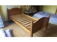 Large single solid wooden bed frame (4 available)