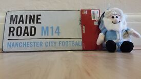 Manchester City Plaque and Soft Christmas Toy