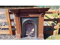 121 Cast Iron Fireplace Surround Fire Arch Arched Antique Original C1852 Insert Victorian