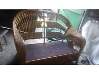 2 SEATER SETTEE ,IDEAL FOR CONSERVARTORY.