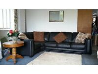 (Available) Leather Corner Sofa 26 ~ Can Deliver
