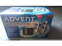 Advent 2.1 alluminum pc/stereo speakers with subwoofer