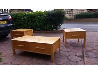 3 piece living room tv stand and tables