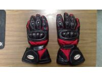 Buffalo Motorbike Gloves XXl XL Red Winter Leather Textile Motorcycle Gauntlets Bufalo Buffallo Warm