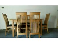 MARKS & SPENCERS DINING ROOM TABLE & CHAIRS