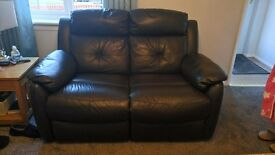 2x2 expresso brown manual recliner sofas