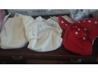 Reusable nappies x 3