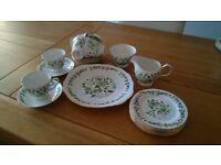 21 piece part teaset vintage Colclough bone china Sedgley pattern 8648