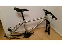 Mountain bike frame and components