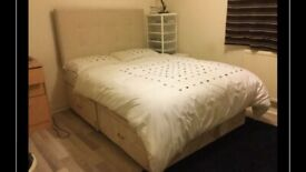 Divan Double bed + mattress + headboard