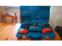 Makita 8391D 18v cordless 2 speed hammer drill with two batt,& charger in box, see photos/detail