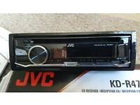 Boxed JVC CD radio usb android car stereo