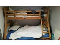 Solid oak bunkbed