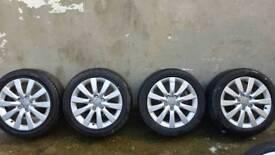 """17"""" AUDI A6 SE ALLOYS & TYRES 5X112 (A4 A5 BE SEAT SKODA)"""