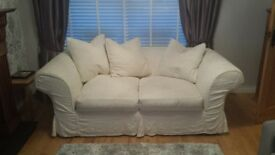 feather filled 2 x seater