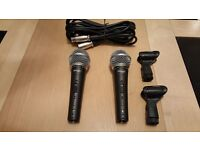 two brand new microphones never been used