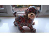 Global Studios Papier Mache floral dog