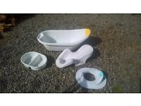 Baby bath and toilet seat