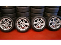Vauxhall Genuine SRI 17 alloy wheels + 4 x tyres 215 50 17