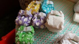 Huge bundle of Tots Bots reusable nappies and accessories