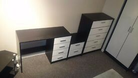 Wardrobe, 2 cupboard, a table and a tv table QUICK SELL! Almost NEW!