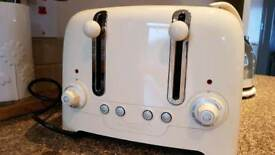 Cream Coloured Dualit Kettle And 4 slice Toaster