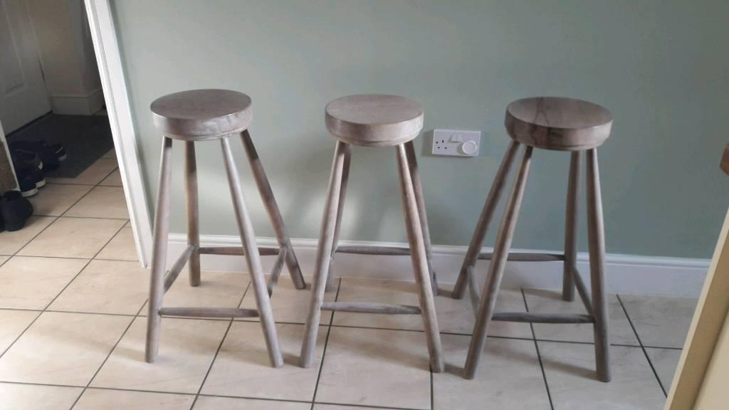 Solid wood stools