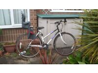 Raleigh Ladies bicycle with child seat