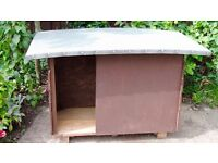 WOODEN DOG HOUSE (Never Used) for Small/Medium Dogs - ROOFING FELT TOP