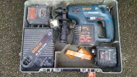 Bocsh gbh24v Vresds plus drill wuth 3bateries charger and case!Can deliver or post!