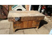 Old school woodworking bench