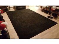 Black large rug