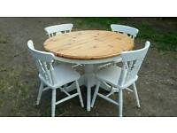 Dining / kitchen table shabby chic pine