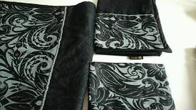 Double duvet cover and pillow cases. Designer