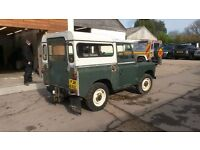 Land Rover Series Hard Top with Side Windows and Rear Door