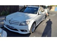 Mercedes c class c320 cdi sport white 08 plate 70k miles. Exelent condition in out