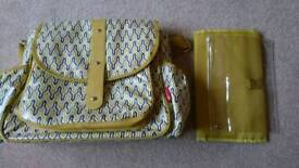 Mustard nursing / changing bag