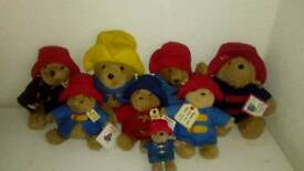 Paddington bears collectors teddies