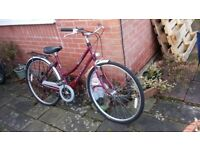 .Ladies raleigh bike.