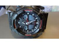 Casio G-Shock GA-100 Black Men's Watch Analogue Digital Alarm 200m Auto Light
