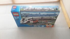 White lego city train