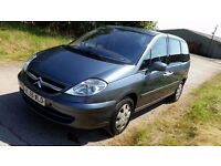 7 seater, 2007 Citroen C8 people carrier. Sliding doors, diesel, MOT til March 2017. Fab family car
