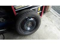 Renault Clio spare wheel with new tyre