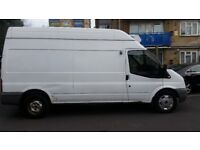 white FORD transit high roof 57 plate with double refrigerated medium wheel base van