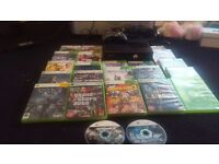 Xbox 360 with kinect and 23 games