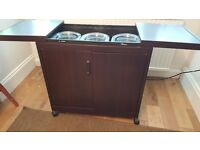 Philips Hostess Trolley HL6232 Mahogany